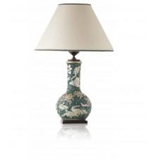 Настольная лампа Le Porcellane Fiori Riliero арт. 02541 Silver Leaf