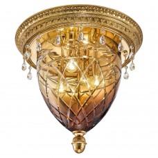 Люстра Possoni арт. 4300/PLG Gold Amber Crystal Swarovski Drops