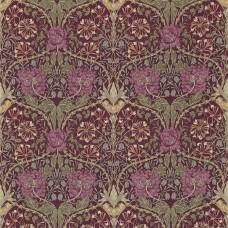 Ткань Morris HONEYSUCKLE & TULIP DMFPHT204 ( DMORHO204 каталог Morris Volume IV - Prints & Weaves )