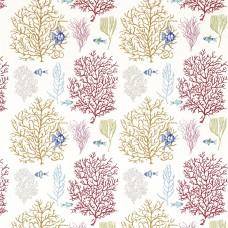 Ткань Sanderson CORAL & FISH 233301